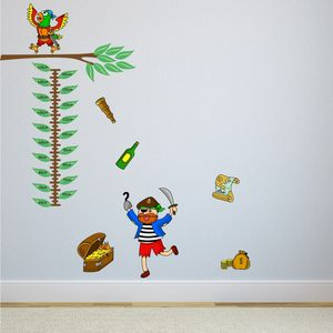 Pirate Height Chart Wall Sticker - wall stickers