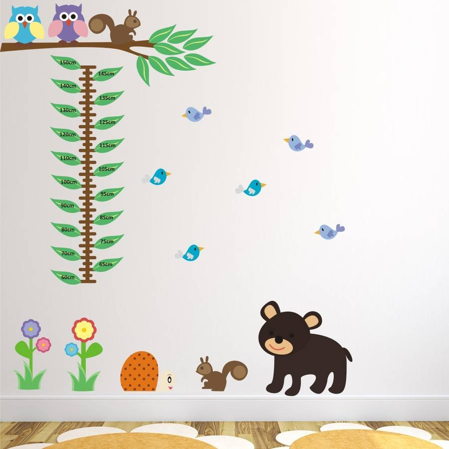Woodland animals height chart wall sticker by mirrorin woodland animals height chart wall sticker nvjuhfo Image collections