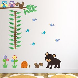 Woodland Animals Height Chart Wall Sticker - children's room accessories