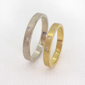 Urban Diamond Wedding Ring Set In 18ct Gold