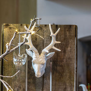 Wall Mounted Reindeer Head White