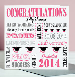 Personalised Graduation Card - congratulations cards