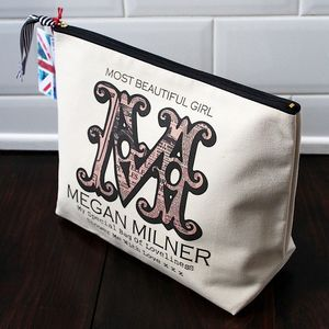 Personalised 'Vintage Monogram' Wash Bag - make-up & wash bags
