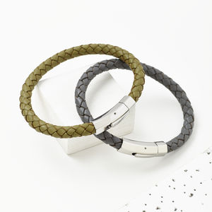 'Duart' Mens Leather Bracelet