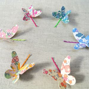 Set Of Two Liberty Of London Butterfly Hair Grips - wedding favours