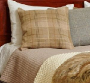 Huntingtower Sand Tweed Sofa Cushion - living room
