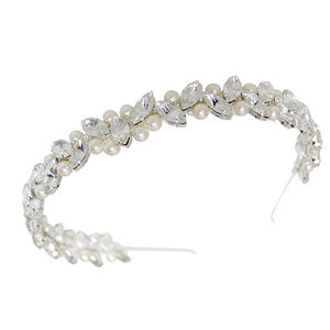 Emily Pearl Tiara Headband - styling your day