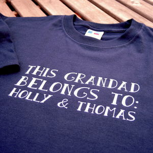 Personalised Grandad T Shirt - gifts for grandfathers