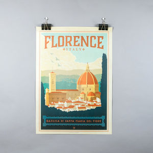 Florence Travel Print - travel inspired wedding gifts