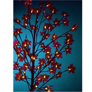 Artificial Red Acer Tree With 60 LED Lights