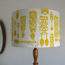 Welsh Lovespoon Print Lampshade