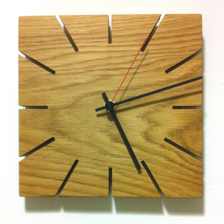 Wooden Clock By James Design Notonthehighstreet Com
