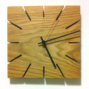 Wooden Clock - bedroom