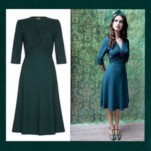 Allegra Dress In Emerald Crepe - 'mother of the bride' fashion and accessories