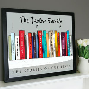 Personalised Book 'Family' Edition - book-lover
