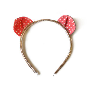 Spotty Cat Ear Headband - hats, hairpieces & hair clips