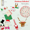 Jolly Reindeer And Santa Placecards
