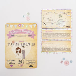 You And Me Wedding Invitation - reply & rsvp cards