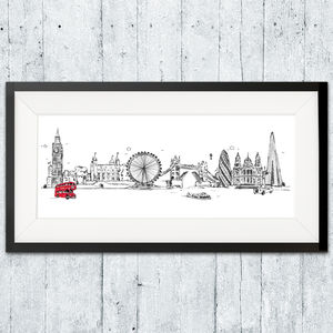 London Skyline Print - posters & prints