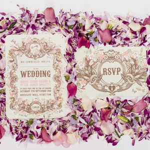 Secret Garden Wedding Invitation - reply & rsvp cards