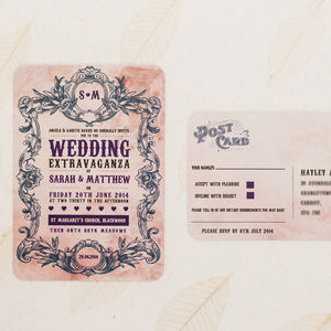 'Wedding Extravaganza' Wedding Invitation