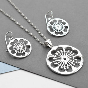 Silver Primrose Jewellery Set - jewellery sets