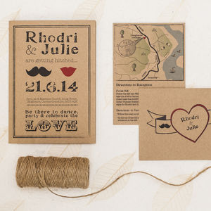 'Getting Hitched' Wedding Invitation - invitations