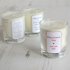 Personalised Natural Aromatherapy Candle