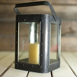 Studded Square Lantern - votives & tea light holders