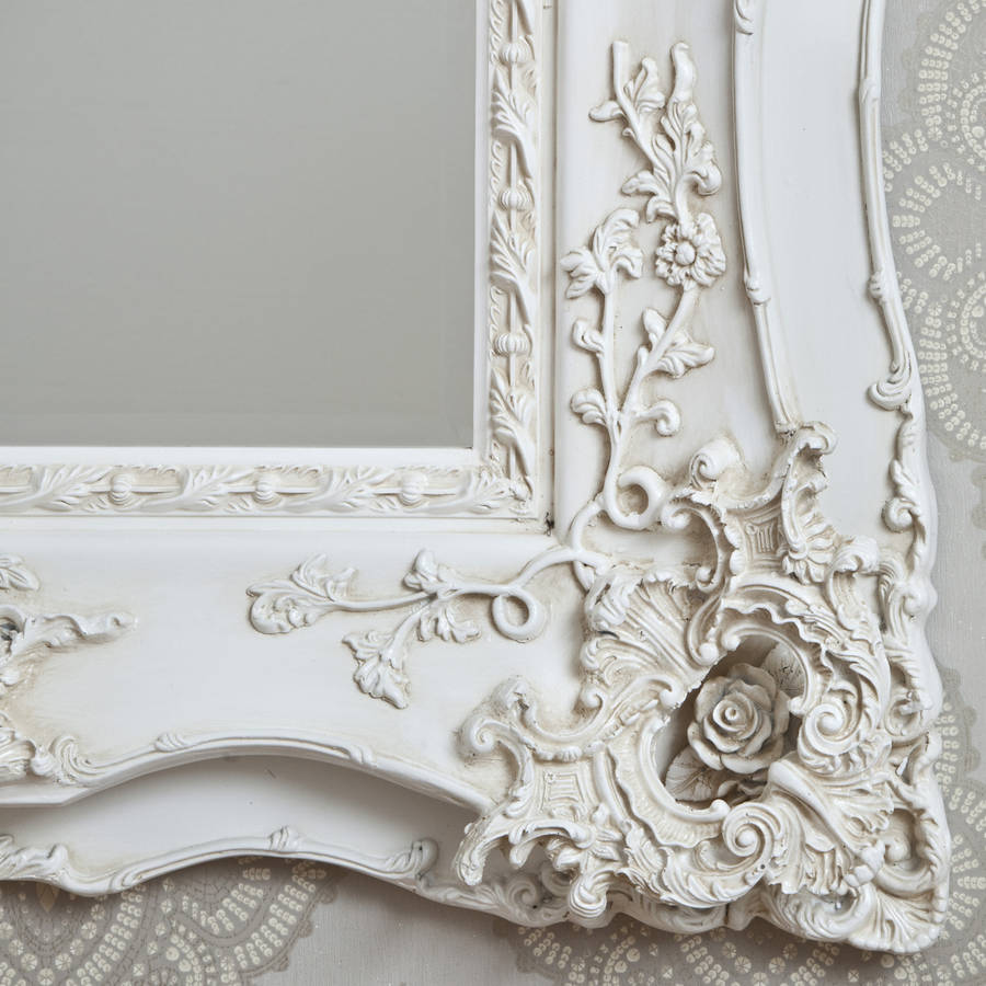 vintage ornate ivory decorative mirror by decorative mirrors online | notonthehighstreet.com