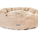 Rokabone Natural Ticking Donut Dog Bed
