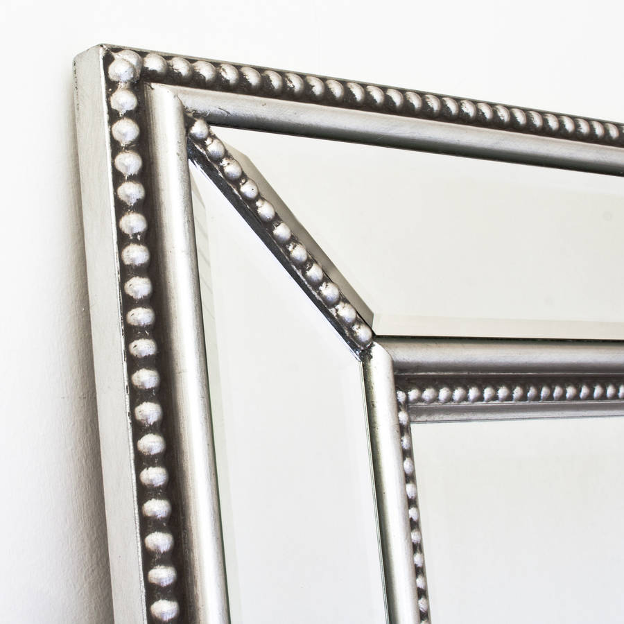 Double beaded classic silver mirror by decorative mirrors for Mirror o mirror
