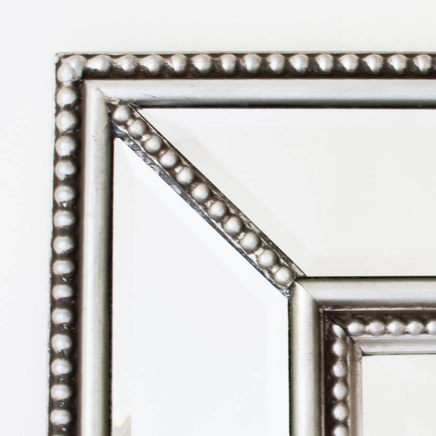 Double beaded classic silver mirror by decorative mirrors for Decorative mirrors