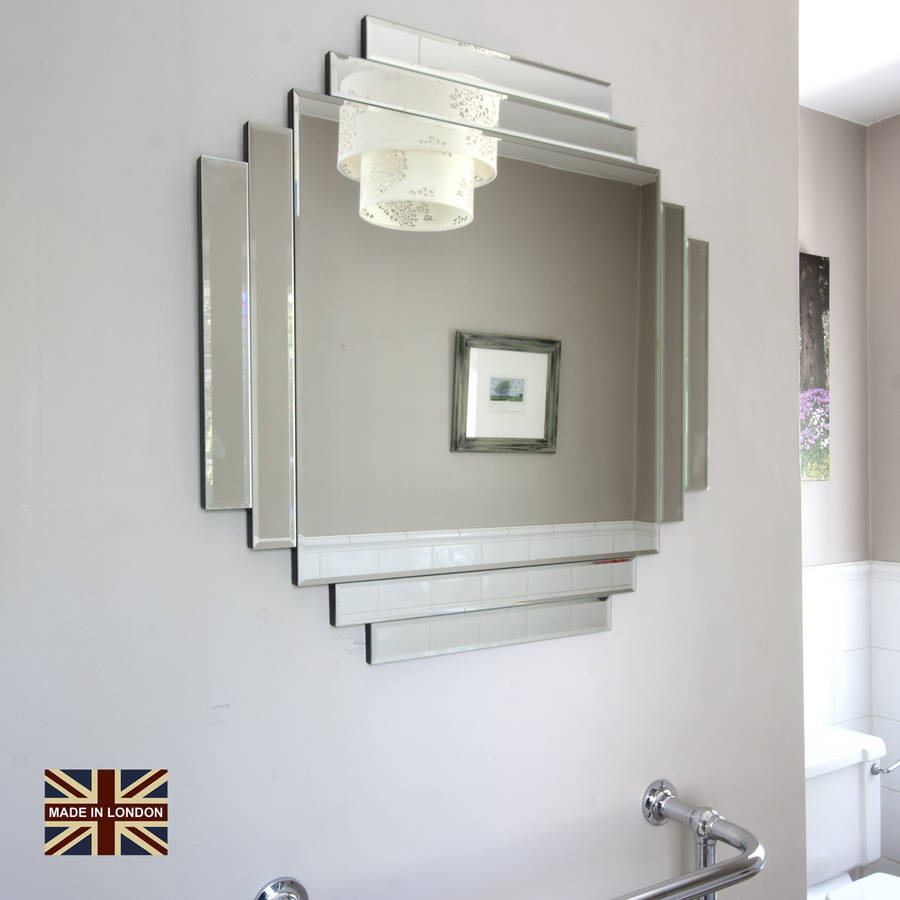 Uk made art deco glass mirror by decorative mirrors online for Mirrors for sale