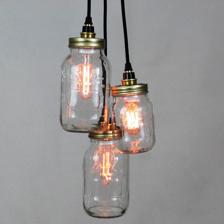 Kilner Jar Cluster Pendant By Unique S Co