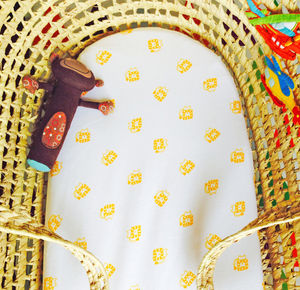 Pack Of Two Lion Design Fitted Moses Basket Sheets