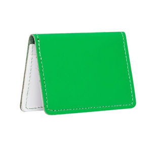 Green And White Leather Card Holder - purses & wallets