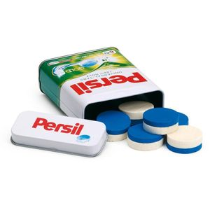 Tin Of Wooden Persil Washing Tablets Toy - pretend play & dressing up