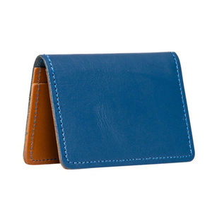 Navy Leather Card Holder - purses & wallets