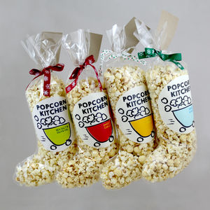 Gourmet Popcorn Christmas Stocking - gifts for foodies