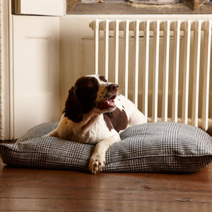 Abraham Moon Westminster Check Wool Filled Dog Bed - beds & sleeping