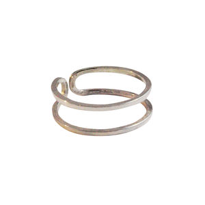 Adjustable Double Row Midi Ring Silver / Gold