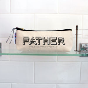 Father's Day Personalised 'Retro Font' Slim Case