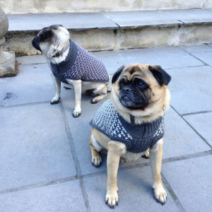 Monochrome Chevron Design Dog Jumper