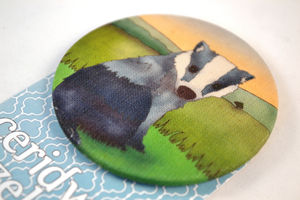 Badger Large Fabric Badge - pins & brooches