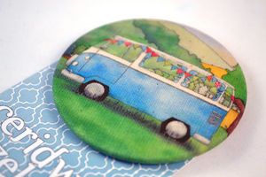 Campervan Large Fabric Badge