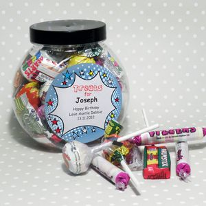 Star Retro Personalised Sweet Jar