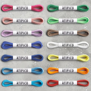14 Pairs Coloured Dress Shoe Laces - shoes