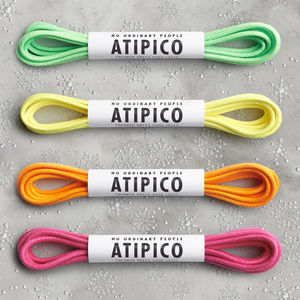 Four Pairs Neon Dress Shoe Laces - shoes & boots