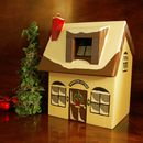 Personalised Christmas Cottage Keepsake Box